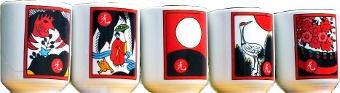 Hwatu cups, Yung-Boh Ceramic, made in Korea