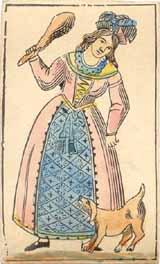 Dragon cards, c.1860