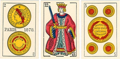 Spanish suited cards, c.1882