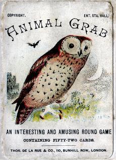 Animal Grab card game, c.1900