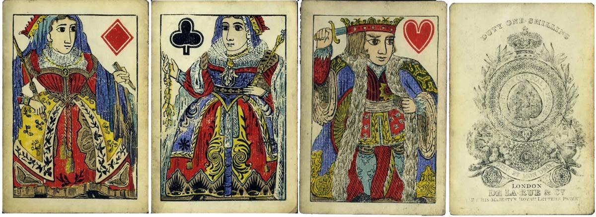 De la Rue's earliest pack of playing cards c.1832