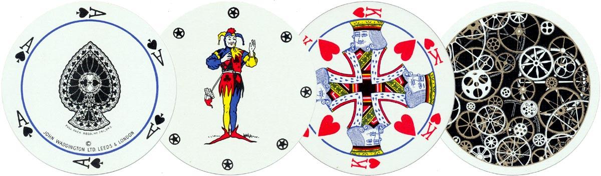 Rondo Circular playing cards manufactured by John Waddington Ltd